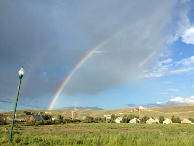 Rainbow outside of Gunnison, Colorado.